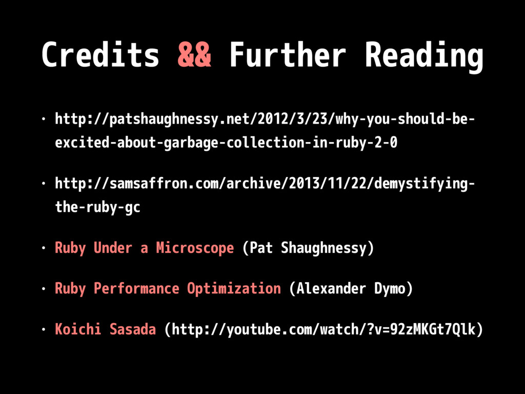 Credits && Further Reading • http://patshaughne...