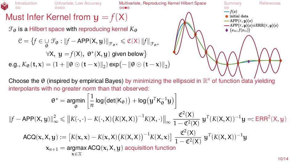 Introduction Univariate, Low Accuracy Multivari...