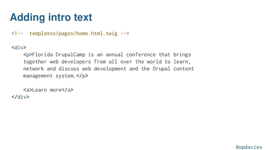 Adding intro text <!-- templates/pages/home.htm...