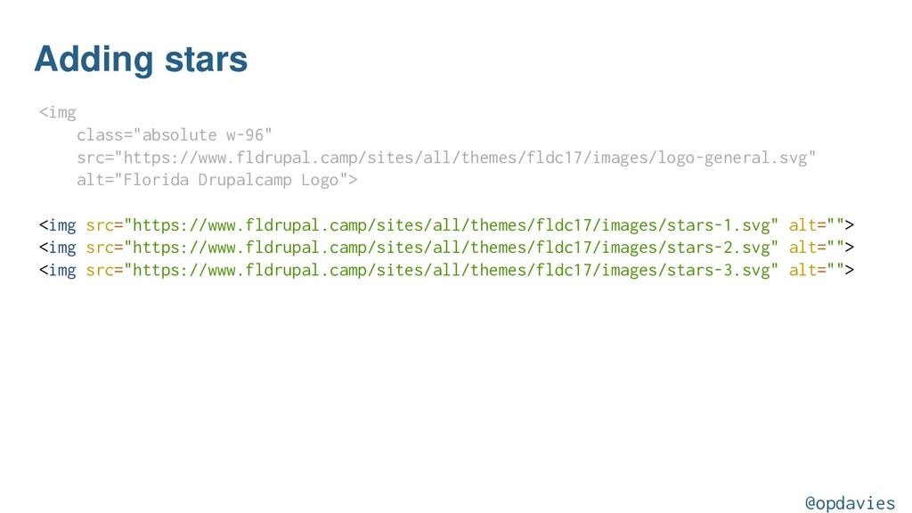 "Adding stars <img class=""absolute w-96"" src=""ht..."