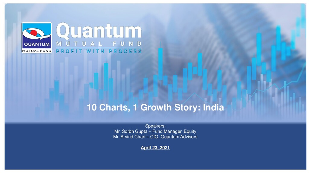10 Charts, 1 Growth Story: India Speakers: Mr. ...