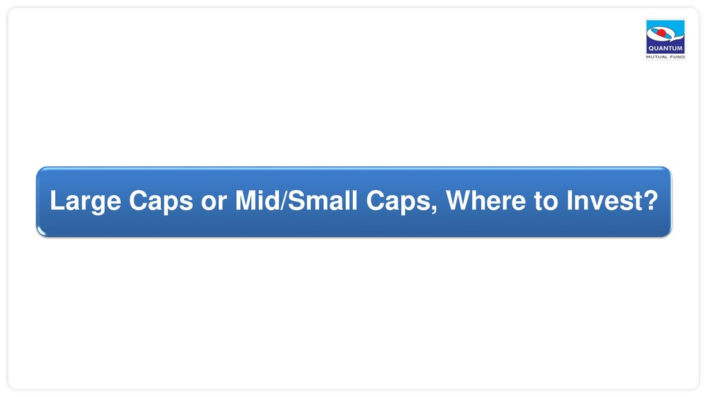 Large Caps or Mid/Small Caps, Where to Invest?