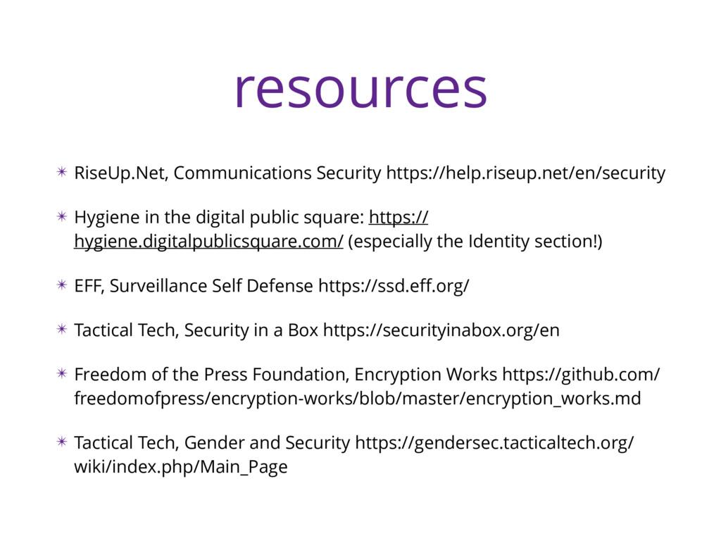 resources ✴ RiseUp.Net, Communications Security...
