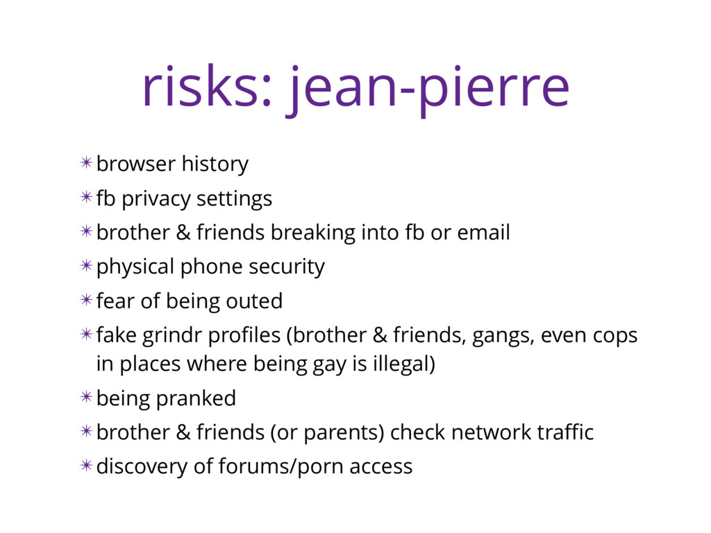 risks: jean-pierre ✴browser history ✴fb privacy...