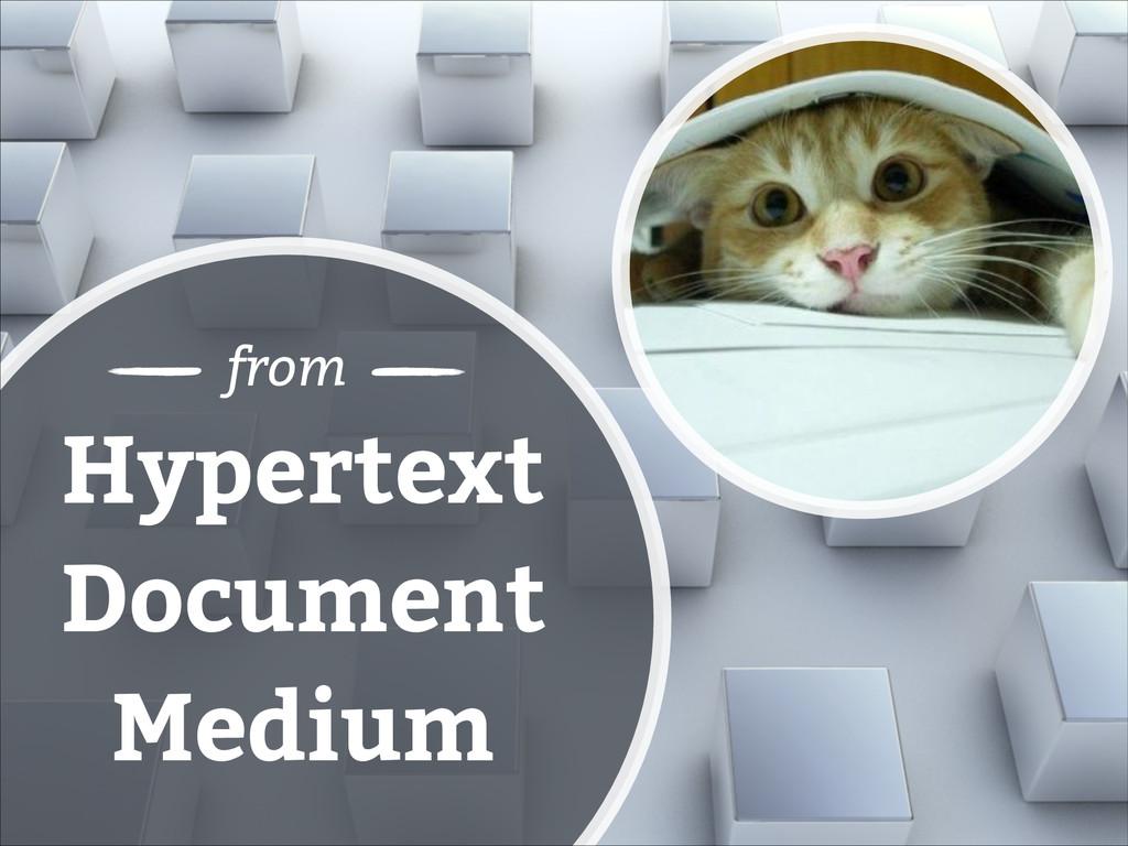 Hypertext Document Medium from
