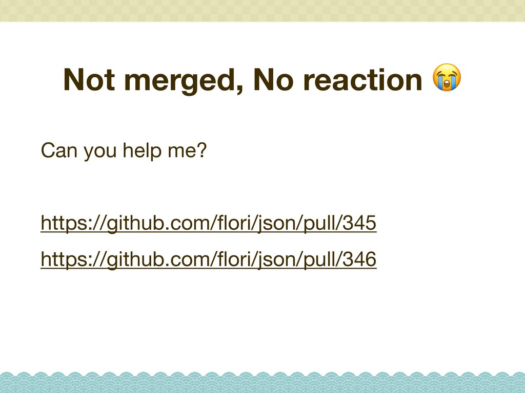 Not merged, No reaction  Can you help me?  http...