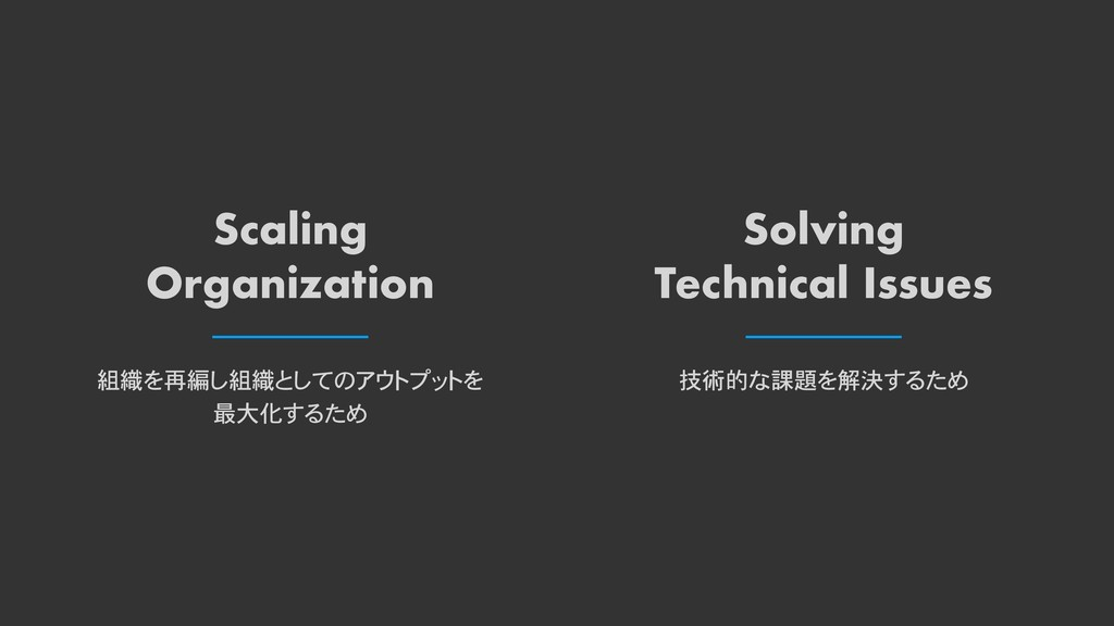 Scaling Organization Solving Technical Issues 組...