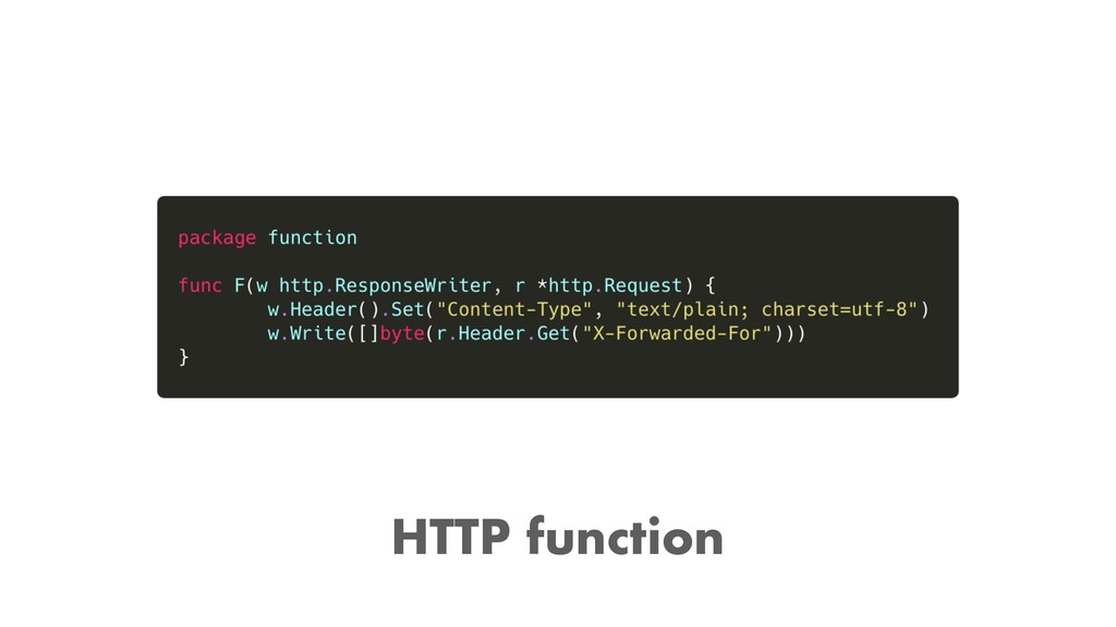 HTTP function