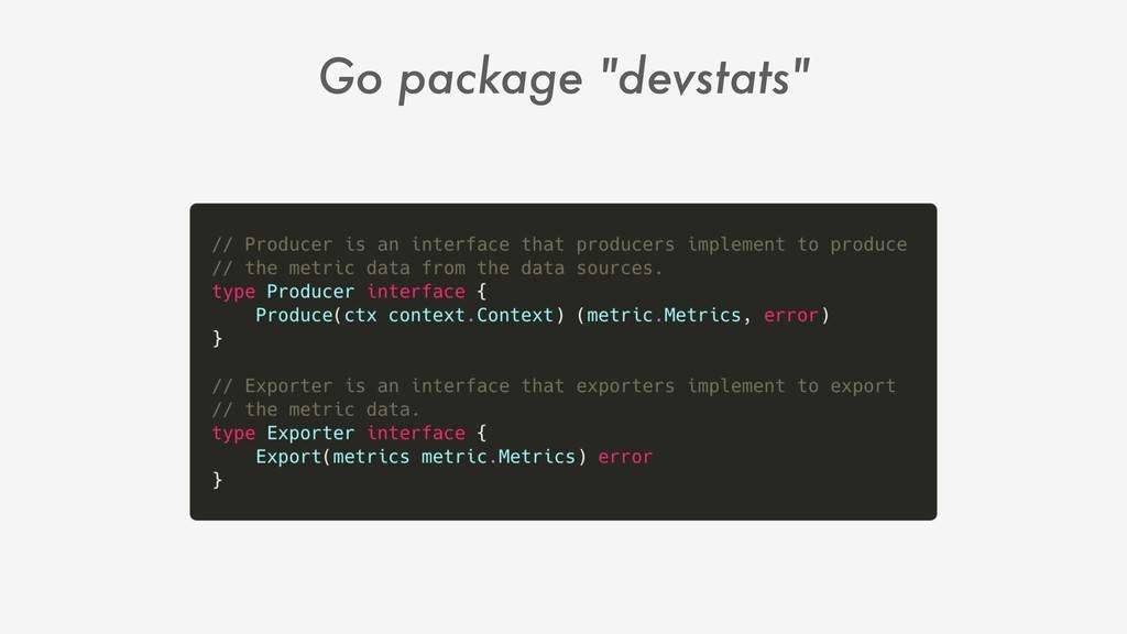 "Go package ""devstats"""