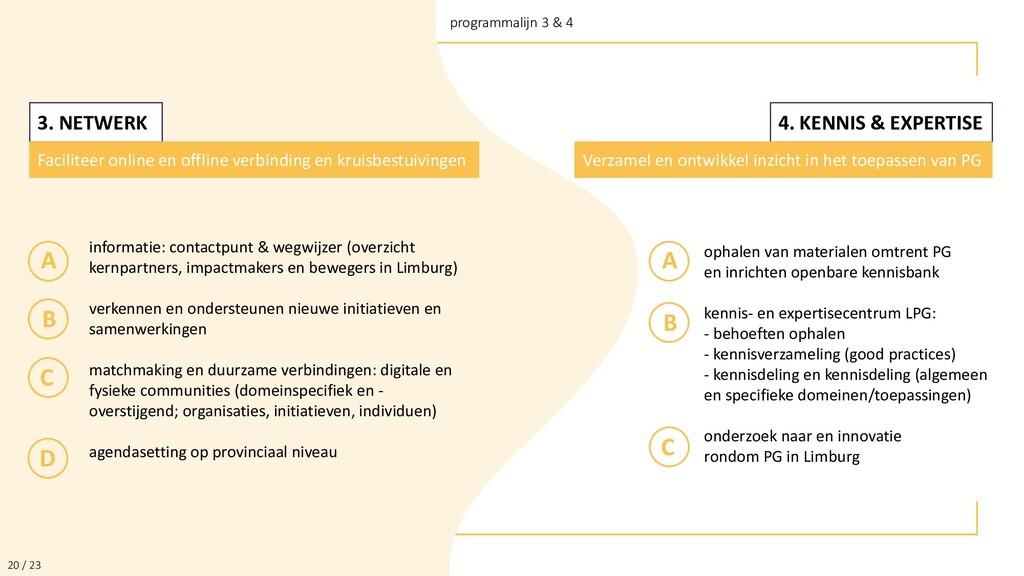 2 / 24 programmalijn 3 & 4 20 / 23 3. NETWERK F...