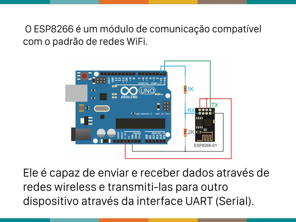 O ESP8266 é um módulo de comunicação compatível...