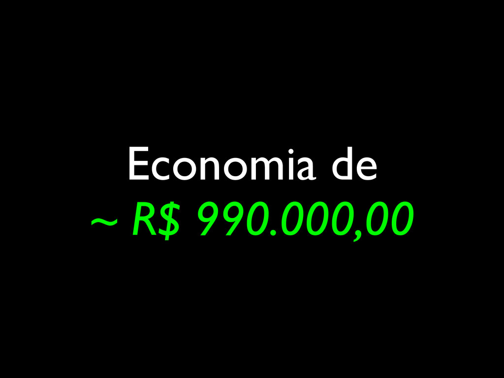 Economia de ~ R$ 990.000,00