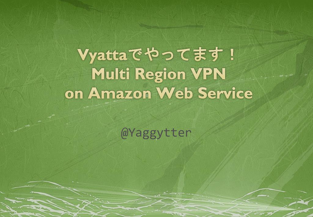 @Yaggytter