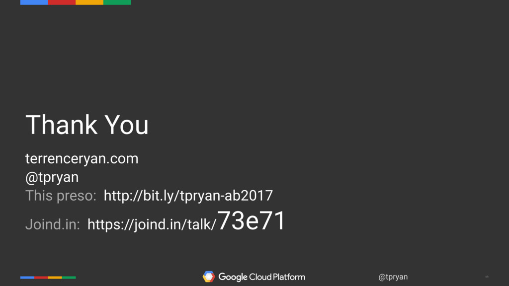 ‹#› @tpryan Thank You terrenceryan.com @tpryan ...