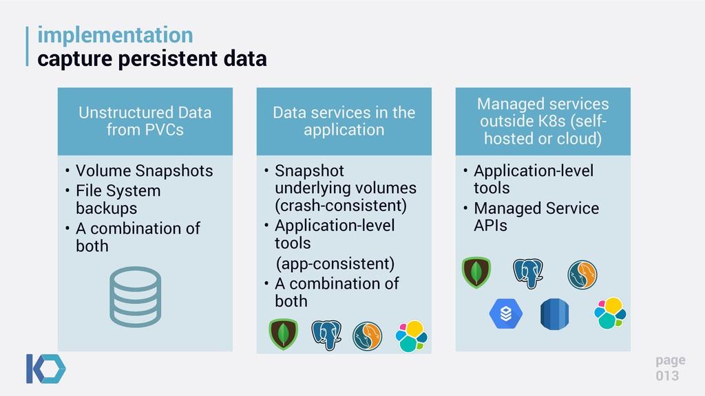 implementation capture persistent data Unstruct...