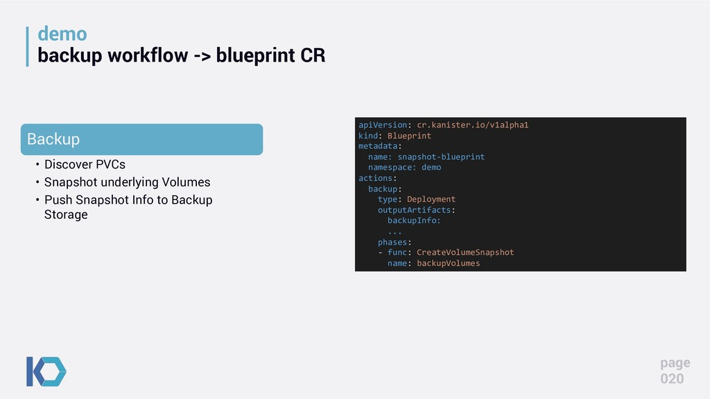 demo backup workflow -> blueprint CR apiVersion...