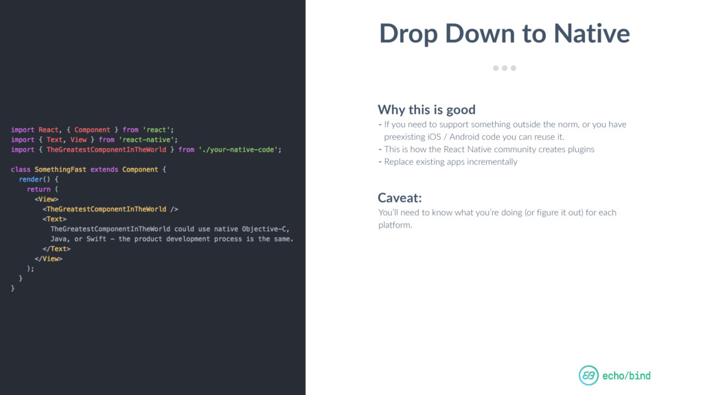 Betting on React Native by cball_ Drop Down to ...