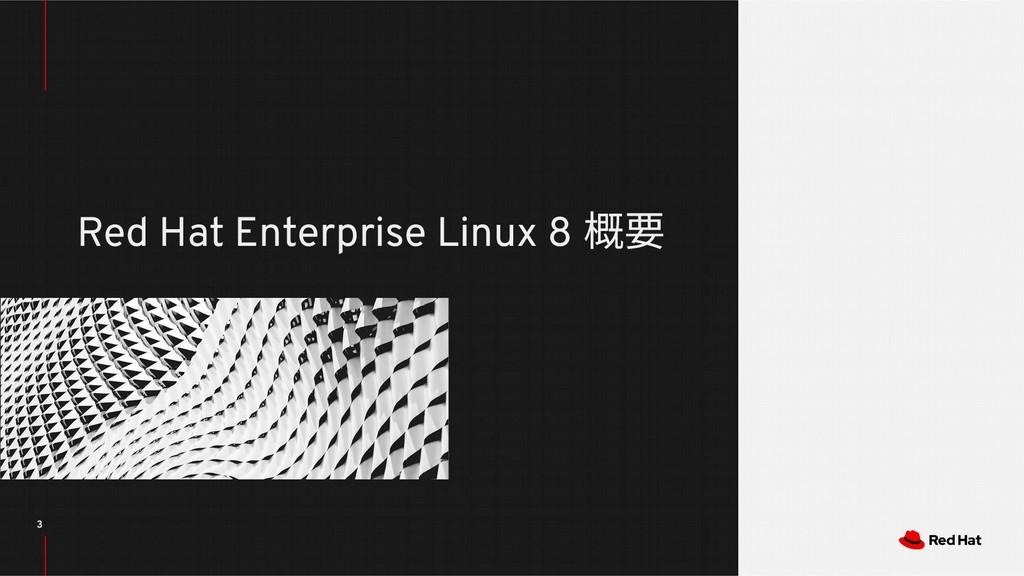 3 Red Hat Enterprise Linux 8 概要