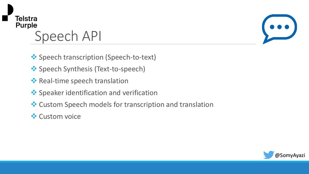 Speech API ❖ Speech transcription (Speech-to-te...