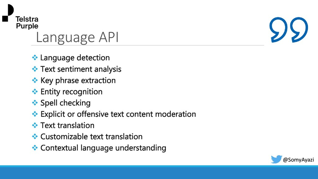 Language API ❖ ❖ ❖ ❖ ❖ ❖ ❖ ❖ ❖ @SomyAyazi