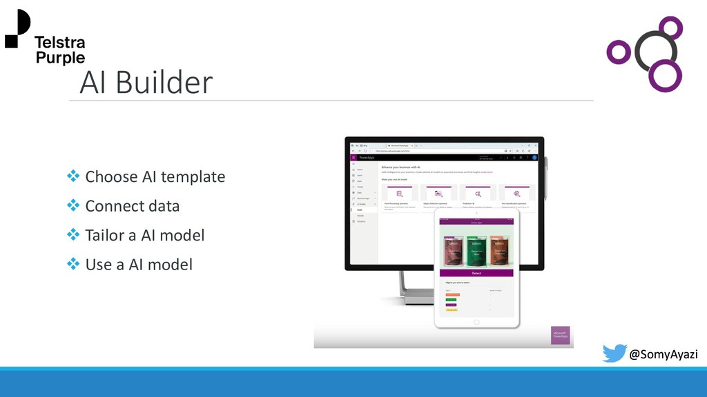 AI Builder ❖ Choose AI template ❖ Connect data ...