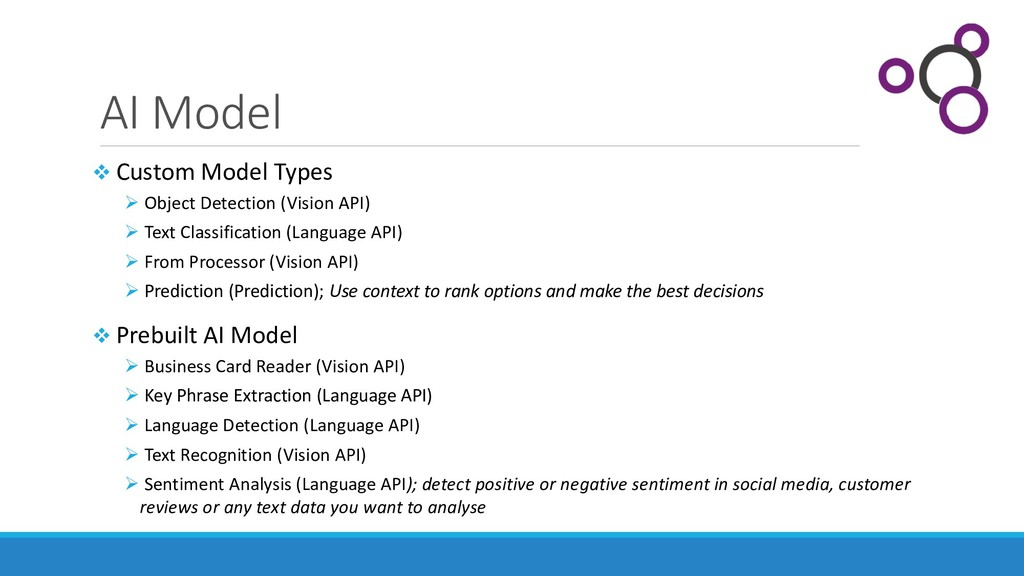 AI Model ❖ Custom Model Types ➢ Object Detectio...