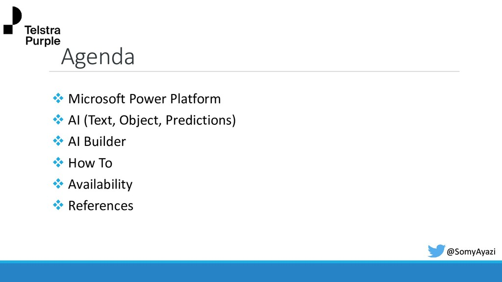 Agenda ❖ Microsoft Power Platform ❖ AI (Text, O...
