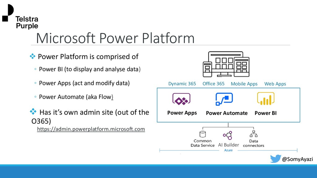 Microsoft Power Platform ❖ Power Platform is co...