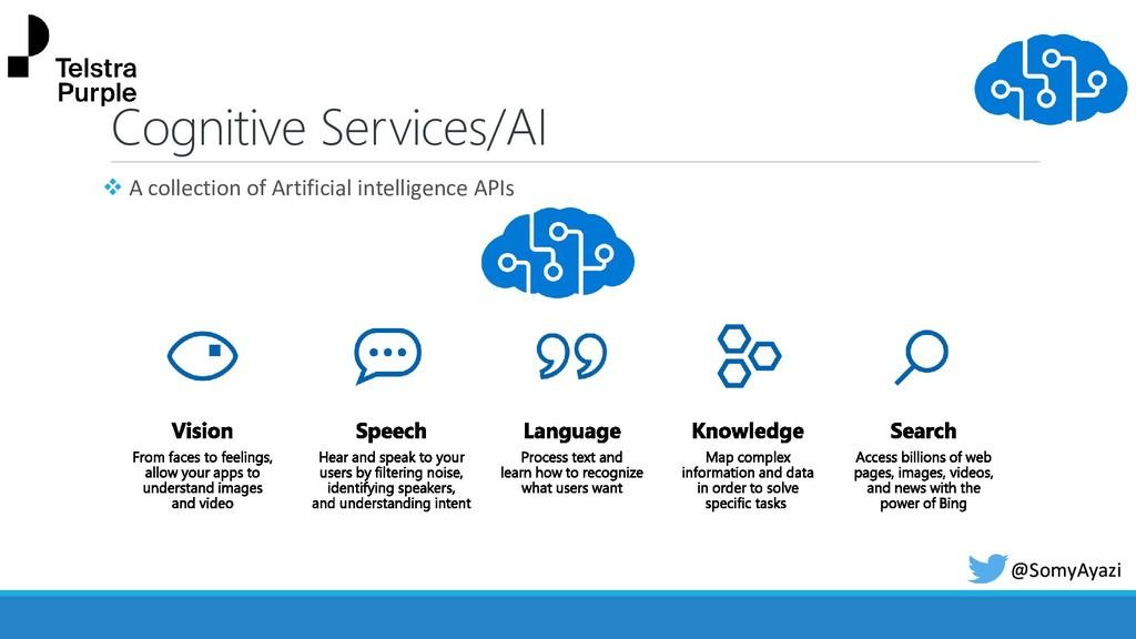 @SomyAyazi Cognitive Services/AI ❖ A collection...