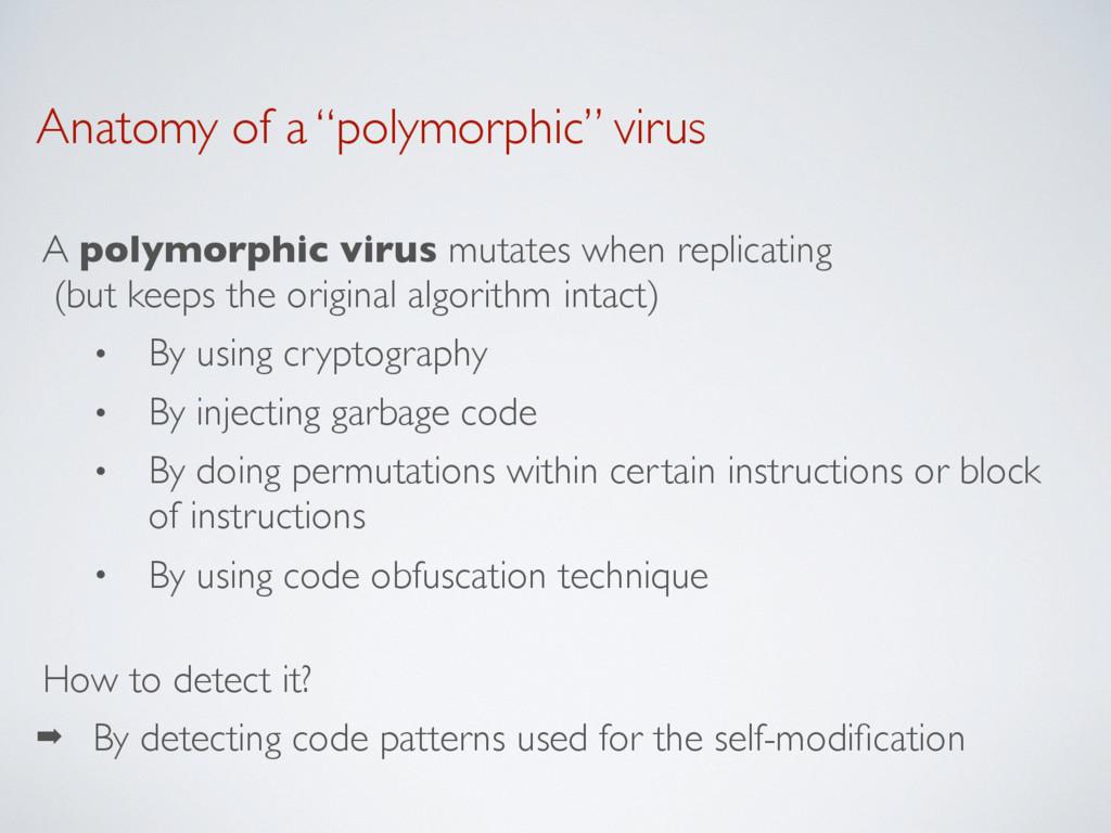 "Anatomy of a ""polymorphic"" virus A polymorphic ..."