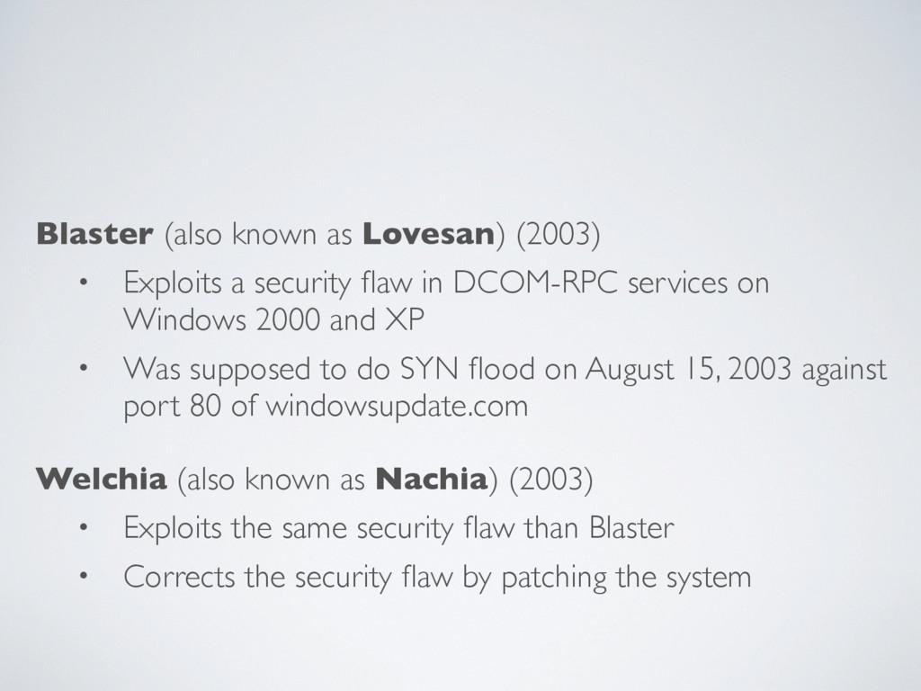 Blaster (also known as Lovesan) (2003) • Exploi...