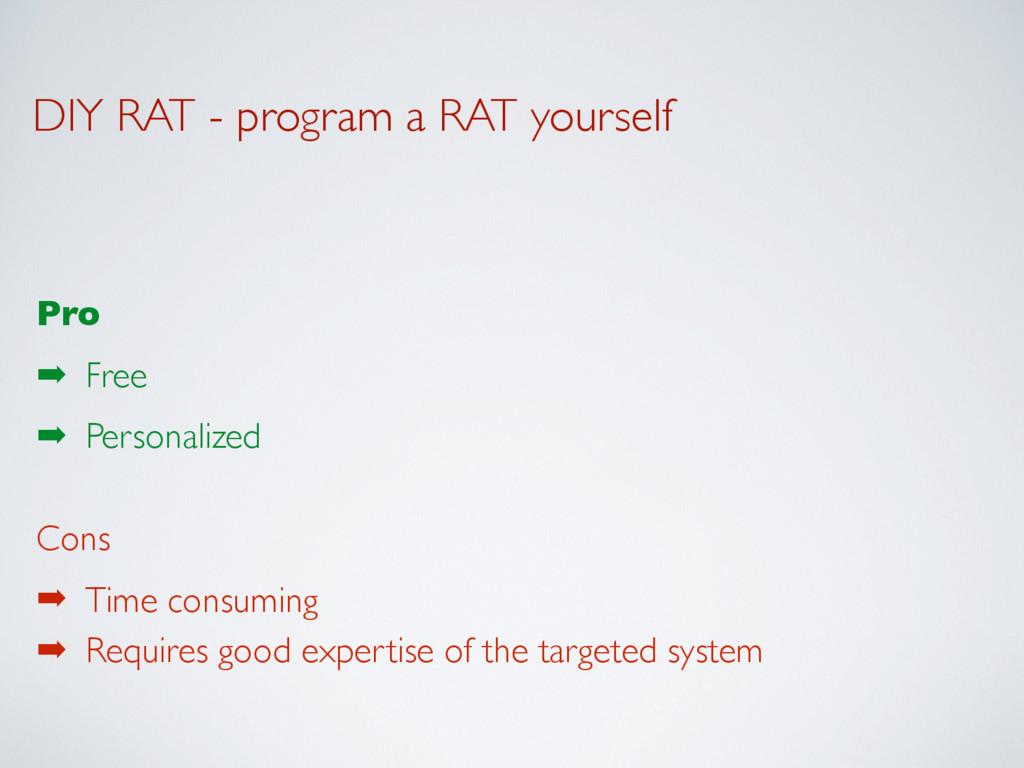 DIY RAT - program a RAT yourself Pro ➡ Free ➡ P...