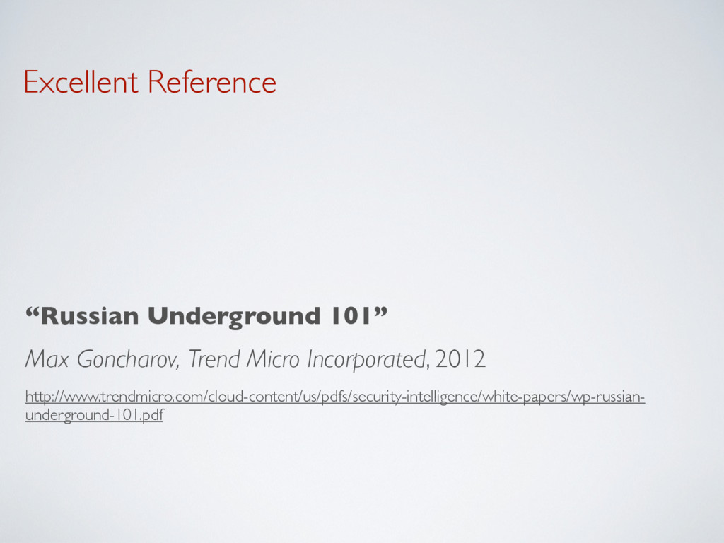 """Excellent Reference """"Russian Underground 101"""" M..."""