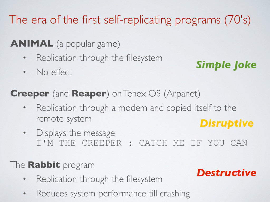 The era of the first self-replicating programs (...
