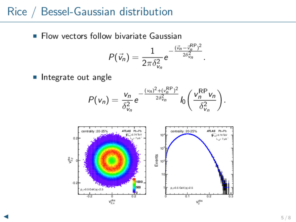 Rice / Bessel-Gaussian distribution Flow vector...