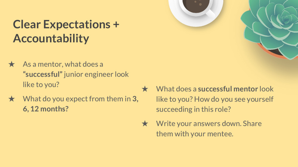 "★ As a mentor, what does a ""successful"" junior ..."