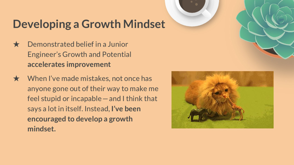 Developing a Growth Mindset ★ Demonstrated beli...