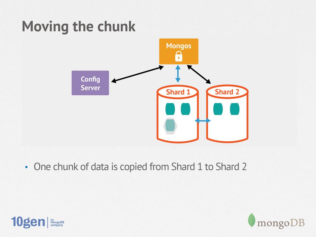 Moving the chunk Node 1 Secondary Config Server ...