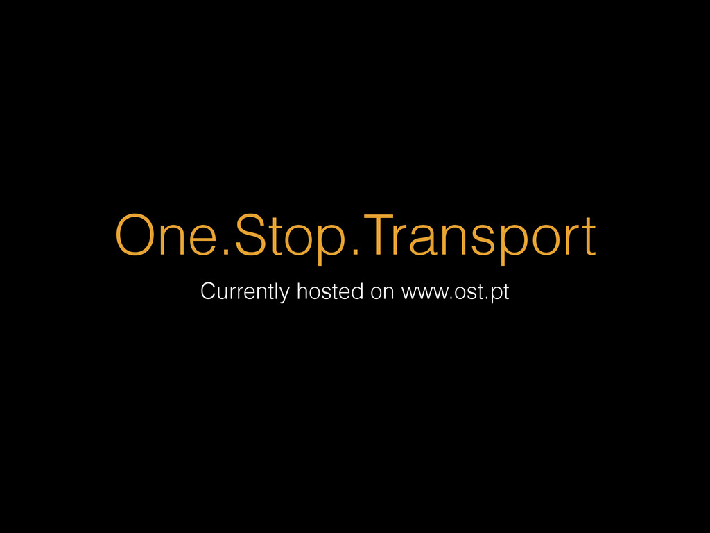 One.Stop.Transport Currently hosted on www.ost....