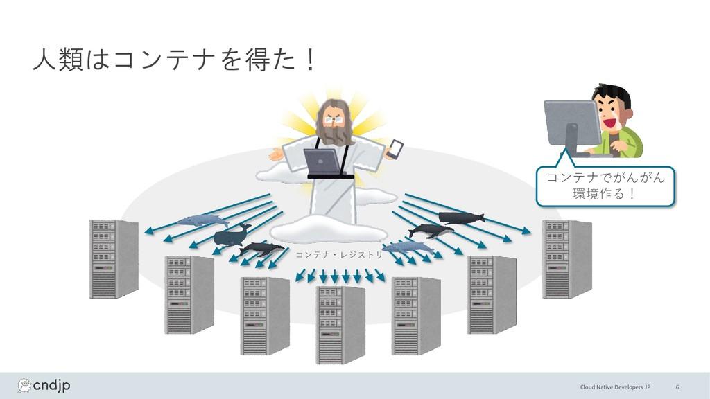 Cloud Native Developers JP 人類はコンテナを得た! コンテナでがんが...