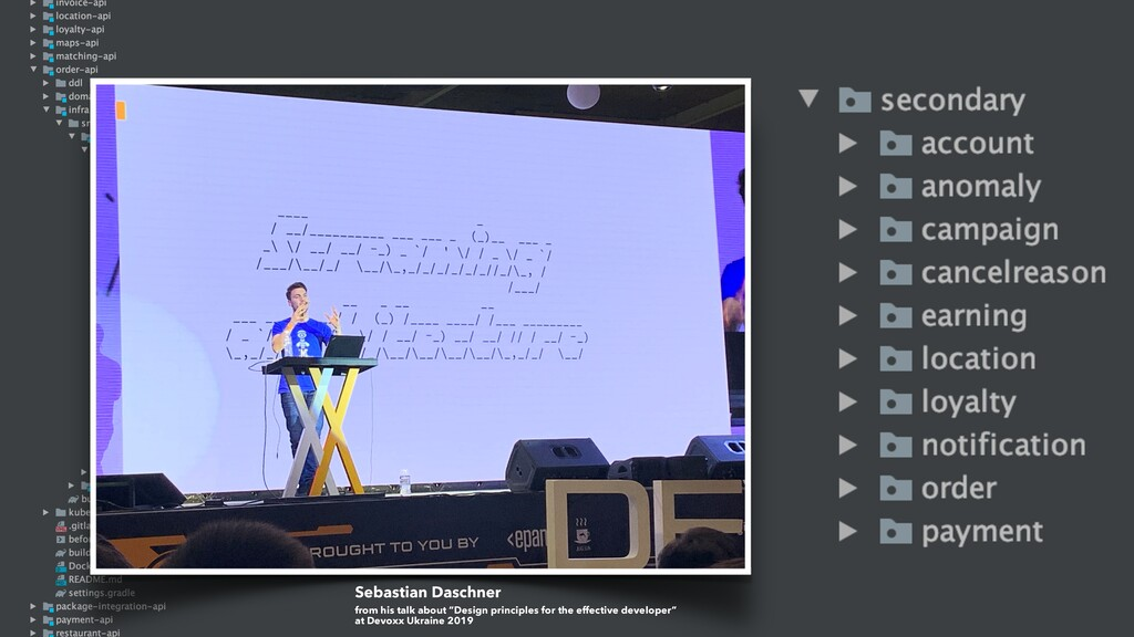 "Sebastian Daschner from his talk about ""Design ..."
