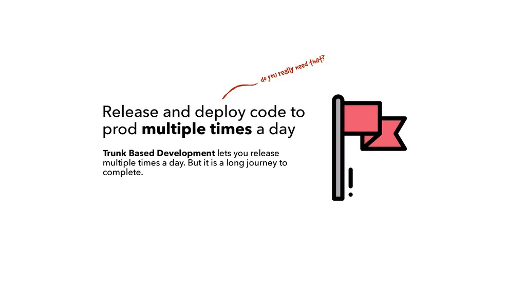 Release and deploy code to prod multiple times ...