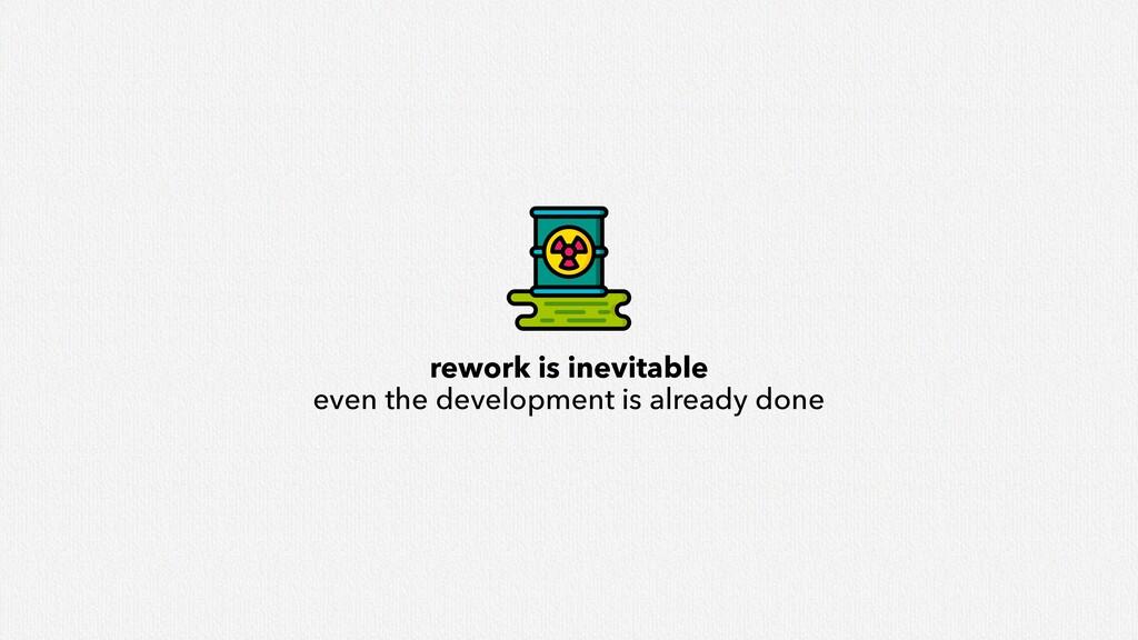 rework is inevitable even the development is al...