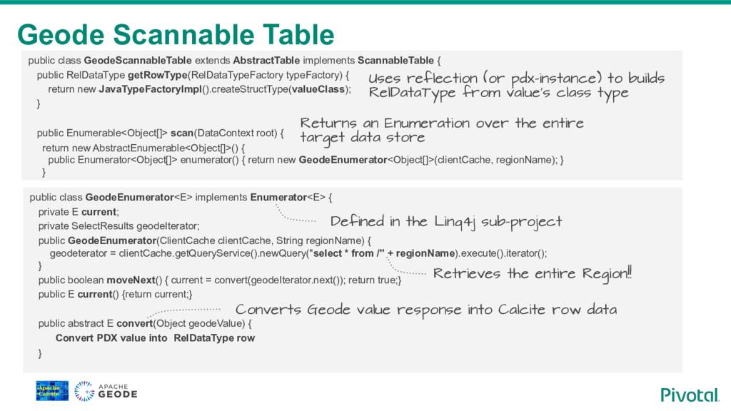 Geode Scannable Table public class GeodeScannab...