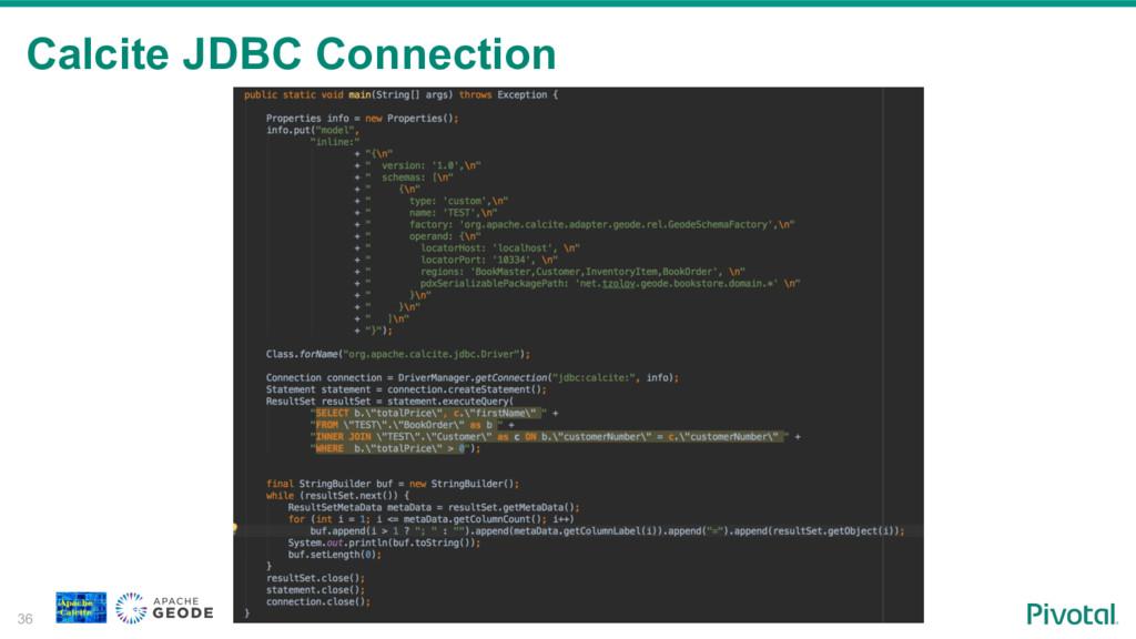 Calcite JDBC Connection 36