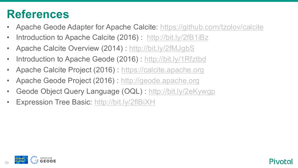 References 39 • Apache Geode Adapter for Apach...