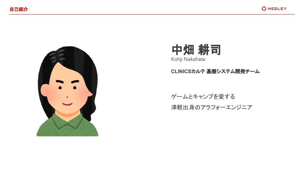 中畑 耕司 Kohji Nakahata CLINICSカルテ 基盤システム開発チーム ゲーム...