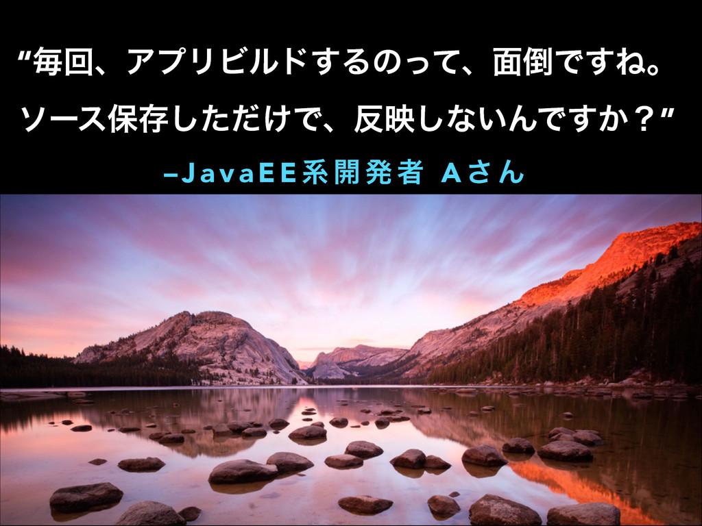 """– J a v a E E ܥ ։ ൃ ऀ A ͞ Μ """"ຖճɺΞϓϦϏϧυ͢Δͷͬͯɺ໘Ͱ..."""
