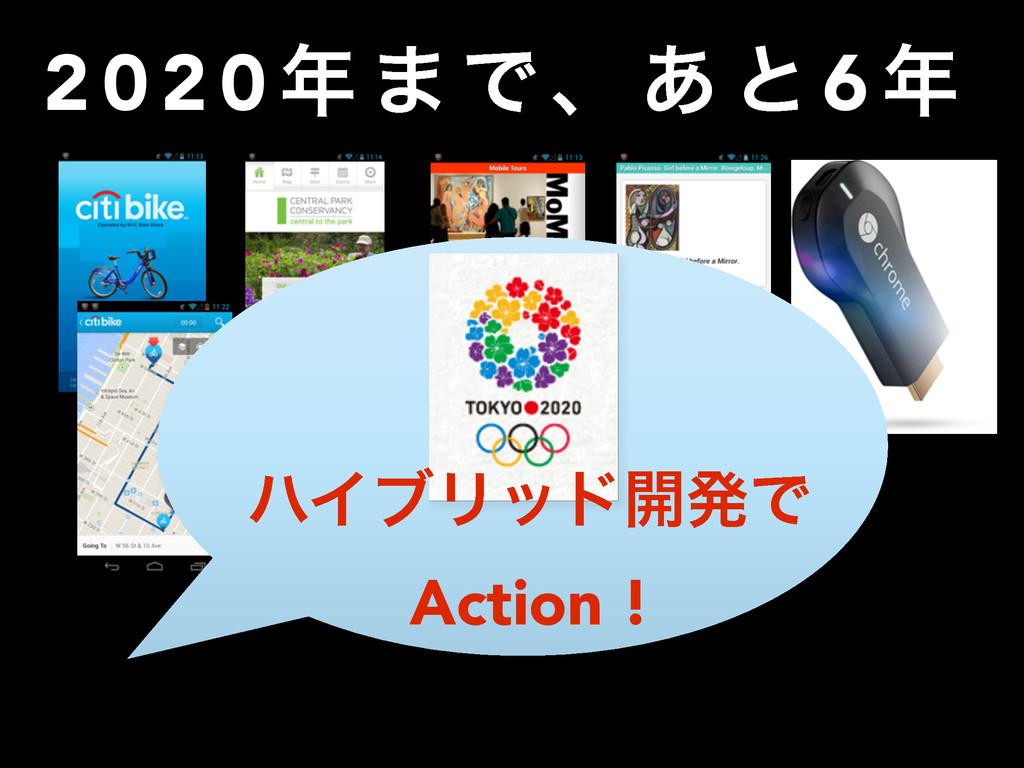 2 0 2 0  · Ͱɺ ͋ ͱ 6  ϋΠϒϦου։ൃͰ Action !