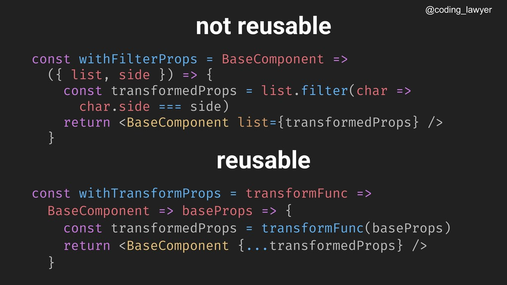 @coding_lawyer not reusable const withFilterPro...